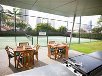 Barbecue and Tennis Court – Mantra Wings